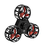 BoniToys Tiny Toy Drone Interactive Games,Handheld Flying Fidget Spinner Rotation Triangle Toys For Kids Adult,Anxiety Stress Relief Boredom Killing Time-Black