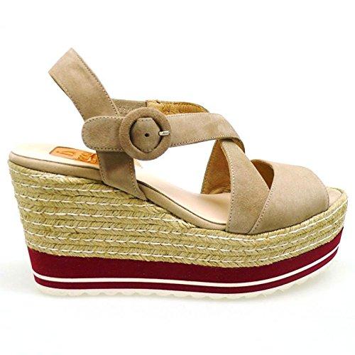 Zapatos Mujer Alpargatas Espadrilles Kanna Kv6360 Taupe 36: Amazon.es: Zapatos y complementos