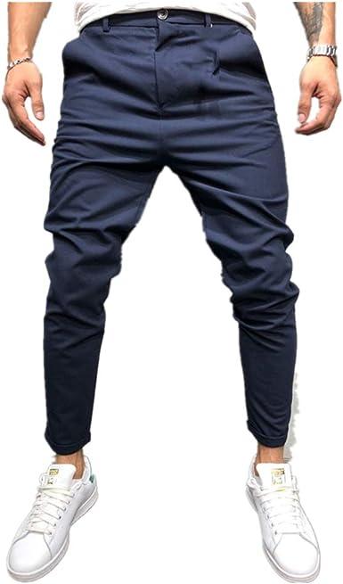 Overdose Pantalones Para Hombre Moda Slim Pure Color Bandage Para Hombre Pantalones Elegantes Con Cordon Pantalones Con Cordon Pantalones De Boca Pequena De Traje Amazon Es Ropa Y Accesorios