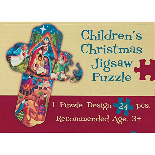 Nativity Scene Within Cross 8.25 x 11 24-Piece Children's Christmas Jigsaw Puzzle