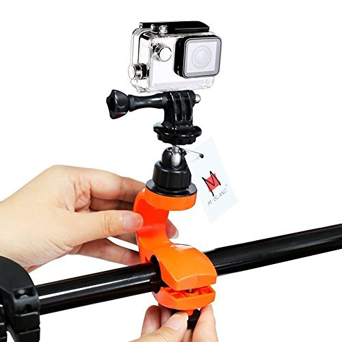 Bike Handlebar Mount, M-BLANC 360 Degree Ball Bike Joint Mount Rotation Motorcycle Seatpost Mount with Tripod Mount Adapter and Screw for GoPro Hero 1, 2, 3, 3+, 4 and Many Other Action Sports