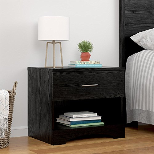 Ameriwood Home Crescent Point Nightstand, Black