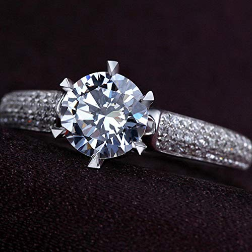 Tomikko 2.52ct Prong Set Cz Band 925 Silver Womens Engagement Ring Size 4-9.5 | Model RNG - 25399 | 7,5