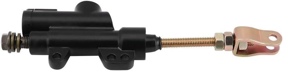 Nero pompa pompa idraulica pompa freno idraulica adatta per moto da cross ATV moto Pompa freno a pedale posteriore moto EVGATSAUTO