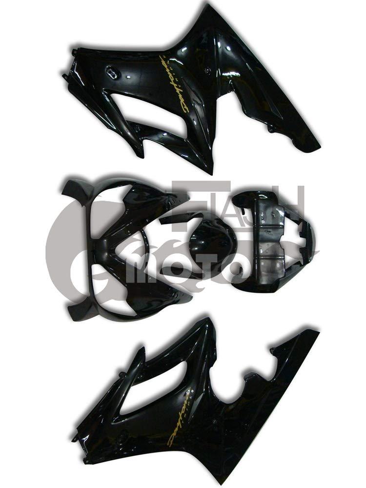 FlashMoto triumph Daytona 675 2006 2007 2008用フェアリング 塗装済 オートバイ用射出成型ABS樹脂ボディワークのフェアリングキットセット ブラック   B07L899S6K