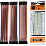 Robotbanao Breadboard and 120 Pieces Jumper Wires