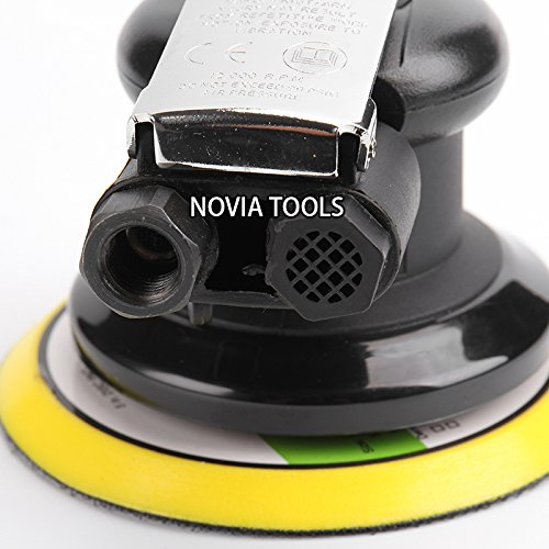 "5""Professional Air Random Orbital Palm Sander,Dual Action Pneumatic Sander,Polisher Sanding,Light Weight,Low Vibration, Heavy Duty by NOVIA TOOLS (Image #5)"
