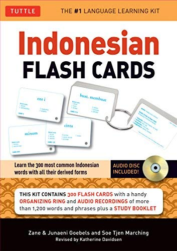 New indonesian flash cards tuttle flash cards
