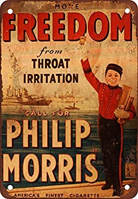 Phillip Morris Cigarettes Vintage Look Reproduction Metal Tin Sign 12X18 Inches