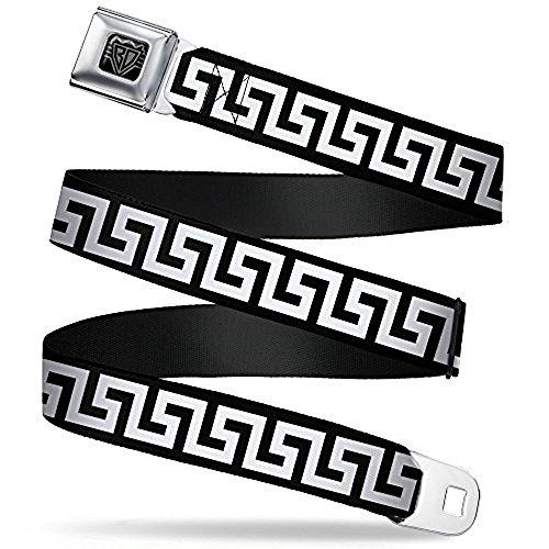 Greek Belt Buckles - Buckle-Down Seatbelt Belt - Greek Key Black/White - 1.0