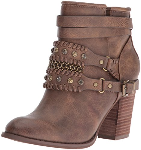 Not Rated Women's Nae Nae Ankle Bootie Brown SKg7qvbV9Y