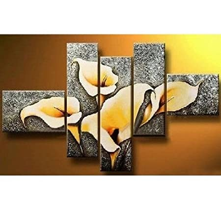 0d26fb668cbf3 Canvas Art Calla Lily Flower Abstract Wall Sets Painting for Home ...