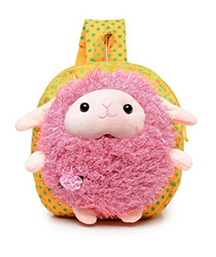 Moon Soul Kids Baby Cartoon Sheep Shoulder School Bag Backpack Yellow