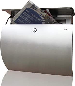 Parrency Stainless Steel Letterboxes with Sturdy Key Lock 5x 15 4//5x 12 2//5 Wall Mounted Waterproof Post Box with Transparent Cover