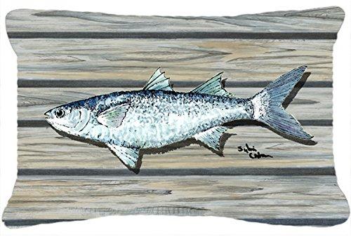 Caroline's Treasures 8490PW1216 Fish Mullet Canvas Fabric Decorative Pillow, Large, (Fish Sham)