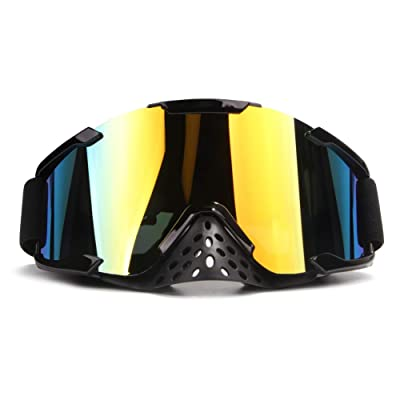 4-FQ Motocross Gogges Dirt Bike Goggles Adult PU Resin Motorcycle Goggles Windproof ATV Goggles Dustproof CRG Sports Riding Goggles Scratch Resistant Wrap Goggles Ski Goggles Protective Safety Glasses: Automotive