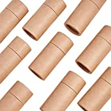 WANDIC Canisters, 10 Pcs Kraft Paperboard Tubes, Kraft Paper Containers Tea Caddy for Loose Tea Coffee Little Ornaments or Craft