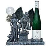 Gargoyle Bottle or Candle Holder Romantic Scene
