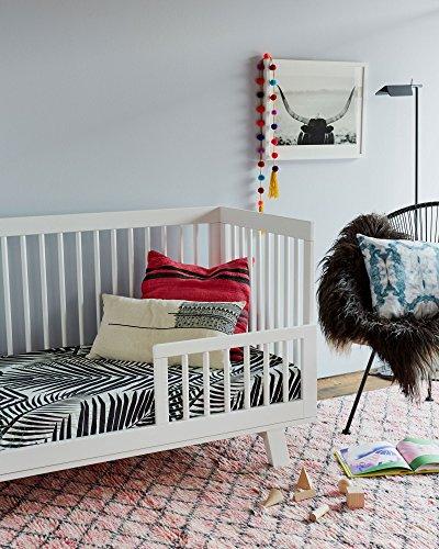 Brooklyn-Born-Organic-Crib-Sheet-Palm-Beach-BlackGreen-One-Size