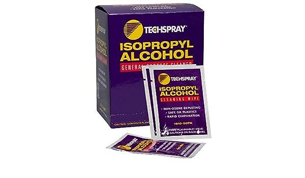 Toallitas con Alcohol Isopropílico 99,8%, 5 - 1/4 x 5 - 1/2