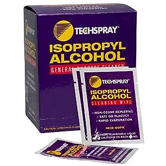 Toallitas con Alcohol Isopropílico 99,8%, 5 – 1/4 x 5