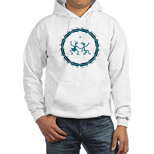Truly Teague Hooded Sweatshirt Primitive Dancing Duo Teal - White, Small
