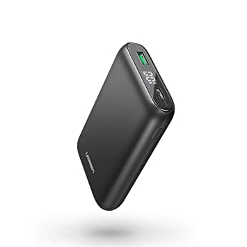 UGREEN Mini Power Bank 10000mAh Batería Externa Carga Rápida Power Delivery Tipo C para Movil Cargador Portátil PD con 2 Salidas 5V 3A para iPhone 11, ...