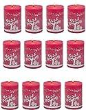 Biedermann & Sons 12 Count Reindeer Games Pillar Candles, 3 x 4''