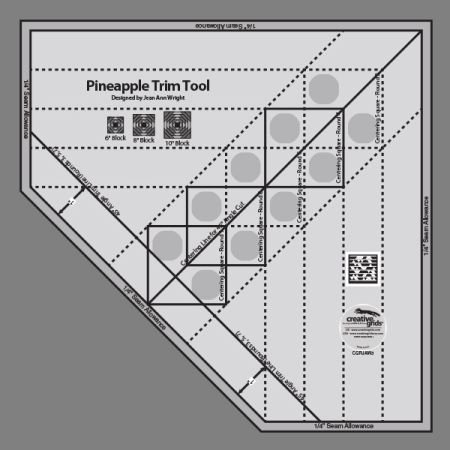 (Creative Grids Standard Pineapple Trim Tool Quilting Ruler Template [CGRJAW3])