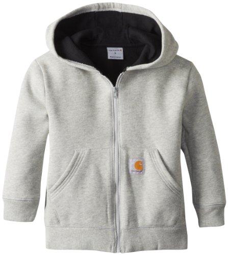 ' Lined Logo Fleece Sweatshirt, Grey Heather, 6 ()