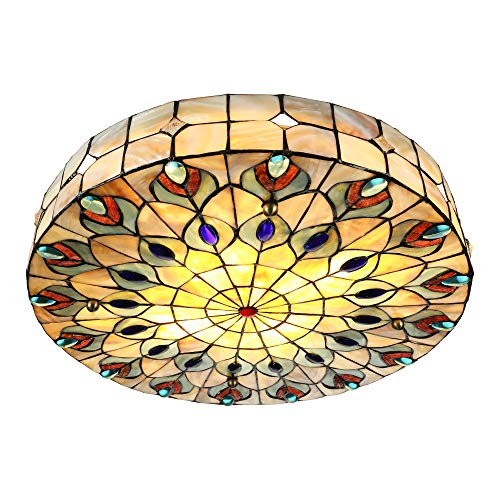 Geometric Stained Glass Chandelier - 20