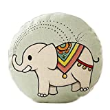 Cute Animal Pattern Sofa Round Cushion Circular Chair Cushion Pillow Seat Pad, C