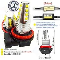 Wiseshine led fog light bulb DC9-30v 3 years quality assurance (pack of 2) 16 led high power
