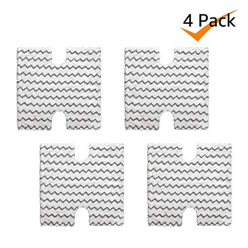 Bonus Life Washable Steam Mop Pads for Shark S5001 S5002 S5003 S6001 S6002 S6003 S3973 XTP184, 4 Pack (Shark Genius Steam Pocket Flip Mop System)