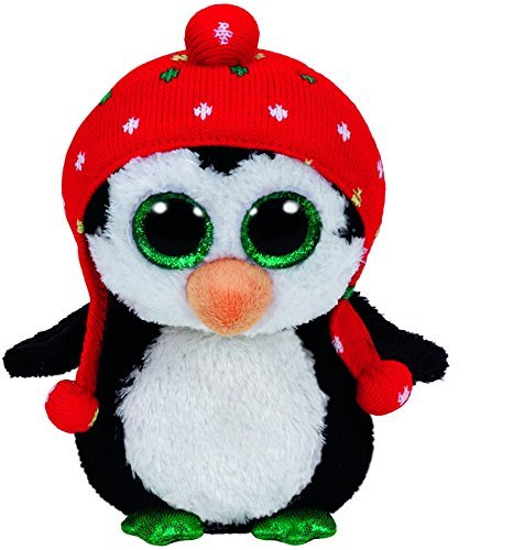- Carl etto Ty 36172?Freeze?-?Penguin with Santa Hat 15?cm Glitter Eye, Glub Sliding Beanie Boo's, Christmas Limited Edition Red by Carletto Ty