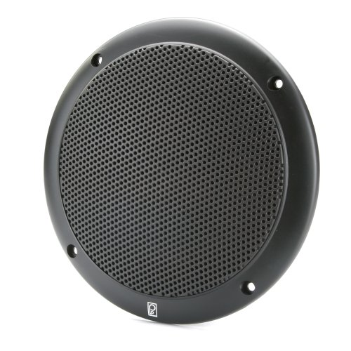 PolyPlanar 4'' 2 Way Coax Integral Grill Marine Speaker Pair Black by Poly-Planar