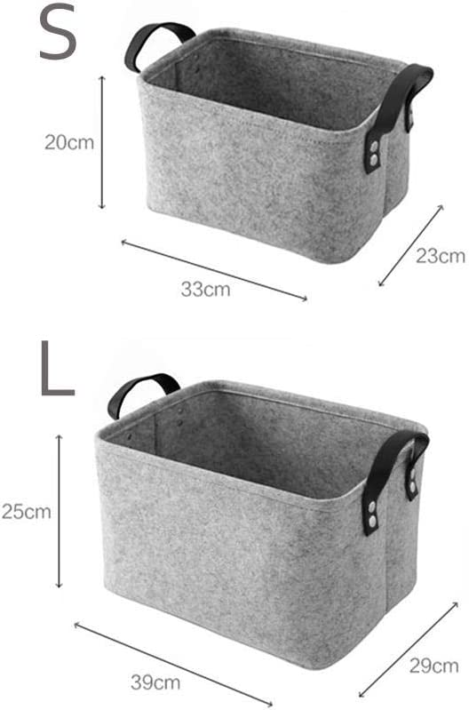 Storage Basket,Felt Storage Bin,Collapsible /& Convenient Box Organizer with Carry Handles for Office Bedroom Closet Babies Nursery Toys Laundry Organizing