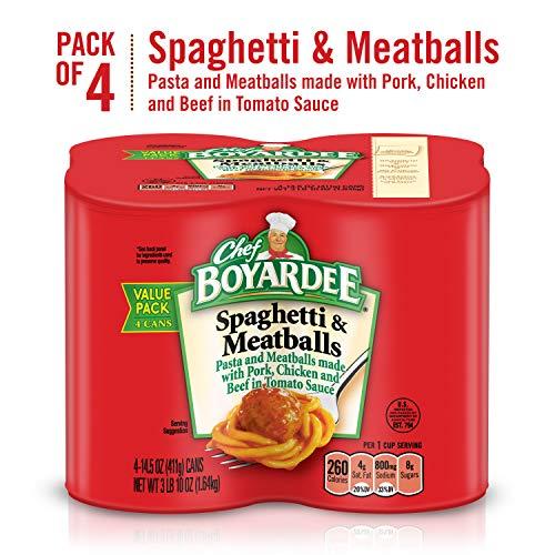Chef Boyardee Spaghetti and Meatballs, 14.5 oz, 4 Pack
