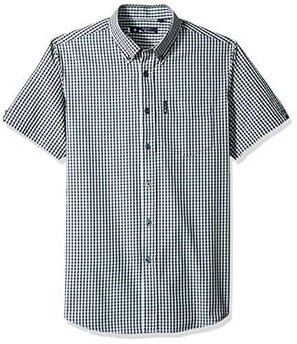 - Ben Sherman Men's SS Classic Gingham Shirt, Sea XXL