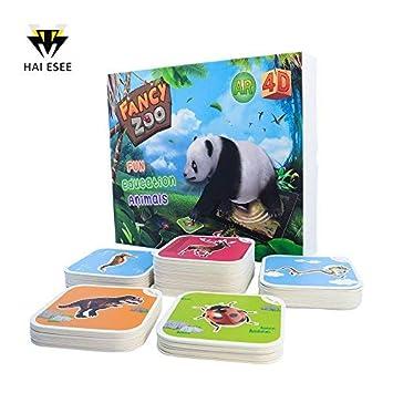amazon monopril 68pcs animals flash cards fancy zoo fun education