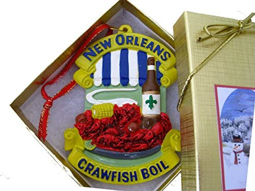 new orleans crawfish boil ornament new orleans christmas ornament food travel tree cajun theme party favor gift decor crayfish boil party favor decoration - Cajun Christmas Decorations