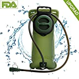 Cosyzone Hydration Bladder 3 Liter Military Backpack Water Bladder Reservoir Storage Leak Proof Hydration Pack Bladder for Cycling Camping Hiking Running BPA Free, Large Opening, Insulated Tube