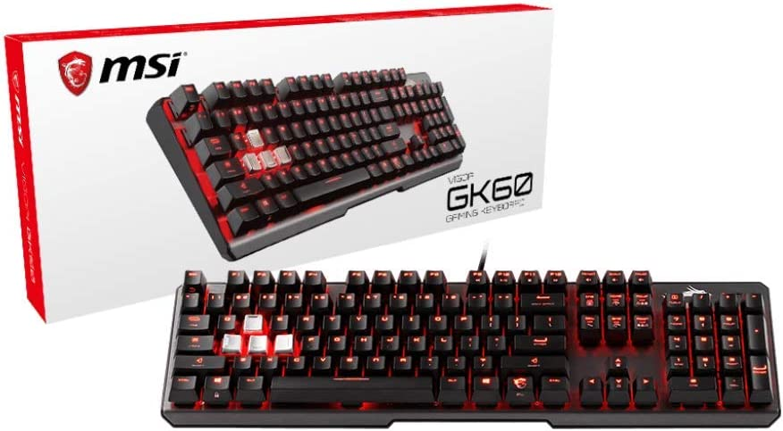 MSI Cherry MX Red Dedicated Hotkeys USB Pass-Through Mechanical Gaming Keyboard (Vigor GK60)