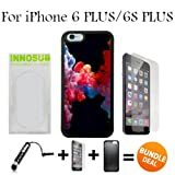 3in1 vape - Colorful Vape Smoke Custom iPhone 6 PLUS Cases/6S PLUS Cases-Black-Plastic,Bundle 3in1 Comes with HD Tempered Glass/Universal Stylus Pen by innosub