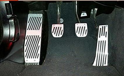 Pedalset Alu transmisión automática con antideslizante de goma para bmw pedales