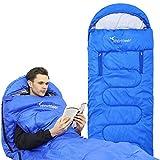 Sportneer Sleeping Bag Portable Single Sleeping Bag with Zippered Holes for Arms and Feet, 32 Degree