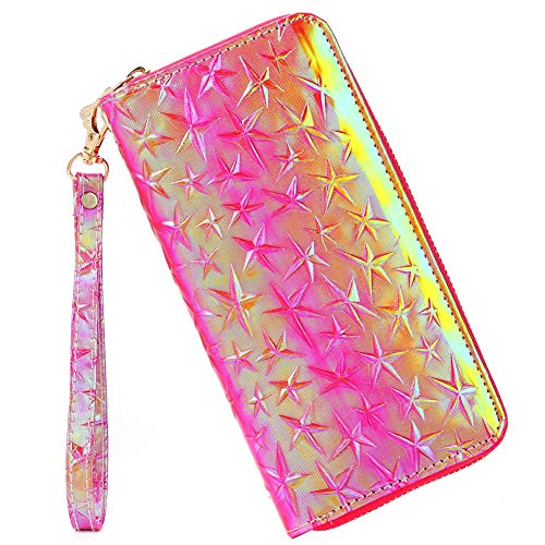 Laimi Duo Bohemian Floral Sequin Wallet Canvas Card Holder Phone Purse Wristlet