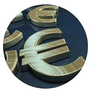 alfombrilla de ratón Símbolo del euro - ronda - 20cm