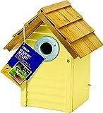 Gardman BA01680 Beach Hut Nest Box, Yellow