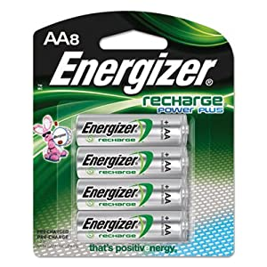 Energizer - AA Rechargeable NiMH Battery Retail Pack, 2500mAh - 8 Pack
